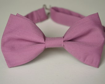 c9360e43483a Mauve bow tie for mens, Dusty rose bow ties, Baby boy bow tie, Boys bow ties,  Mauve wedding bow tie, Ring boy bowtie, Clip bow tie, Bow ties