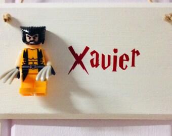 LEGO BATMAN b PERSONALISED WOODEN DOOR PLAQUE