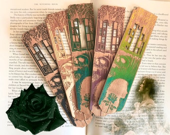 Witching Hour Wooden Bookmark | Southern Gothic Bookmark | Witchy bookmark
