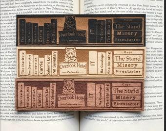The King of Horror Shelf Wooden Bookmark | Horror Bookmark | Horror Bookmark | Bookish Gift | Personalized Gift |