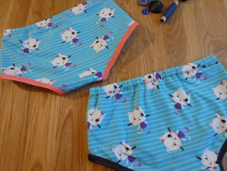 Underwear Set Gr.116122 single piece with Cats and Stripes Summer Top Undershirt