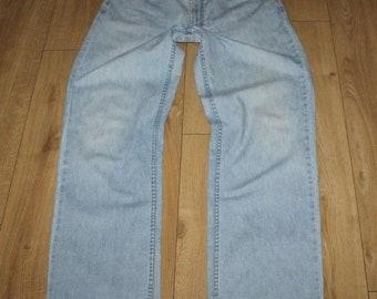 Vintage Light Blue MUSTANG Zip Straight Leg Stonewashed Men/'s Jeans Size 34 L 33