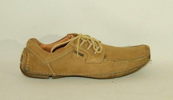 Vintage Beige Leather LASOCKI Lace Up