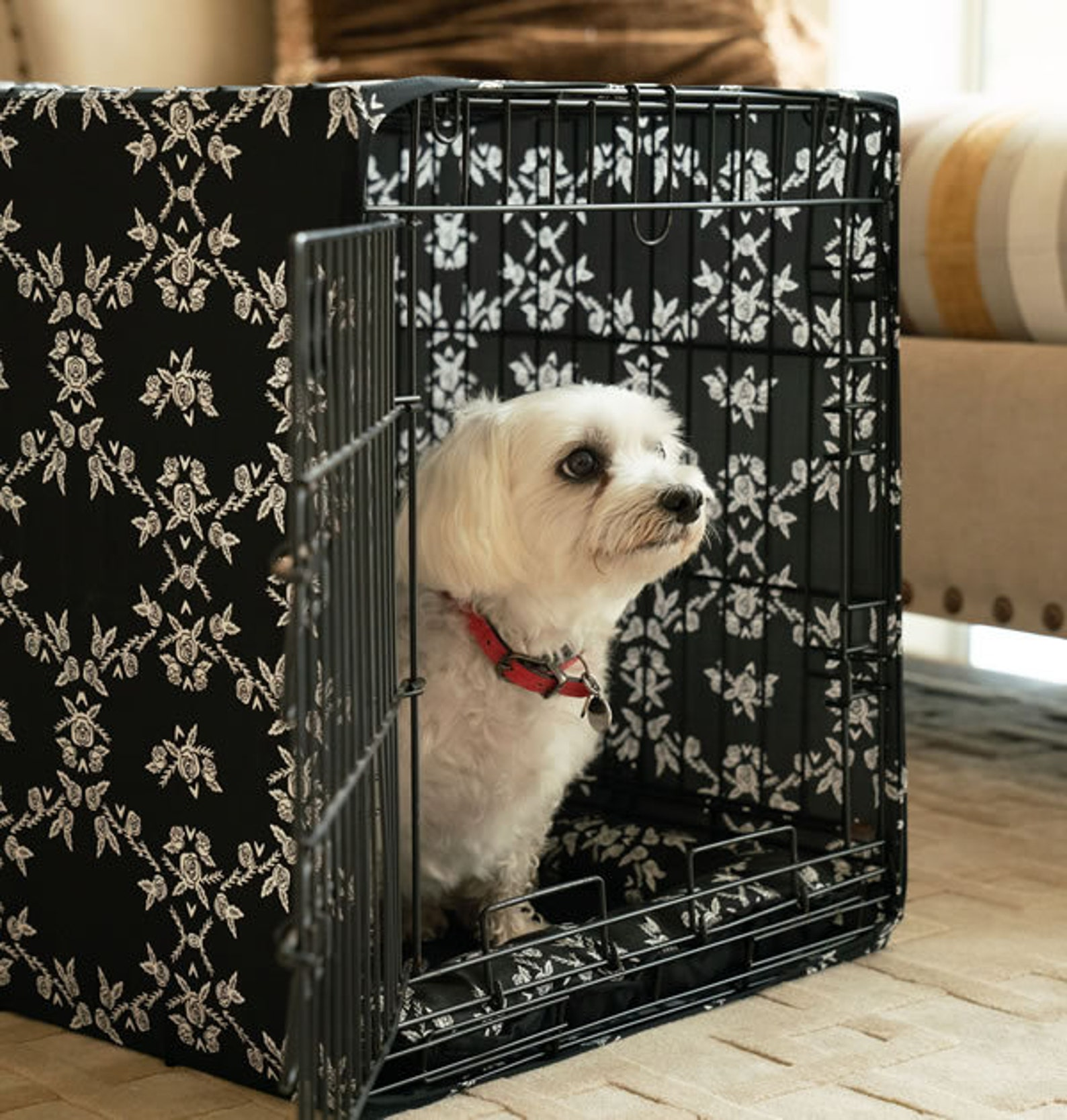 Dog crate cover