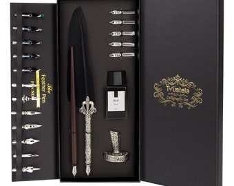 Calligraphy Set For Beginners, Calligraphy Pen Set, Calligraphy Kit, feather pen, quill pen, quill and ink set, feather pen and ink