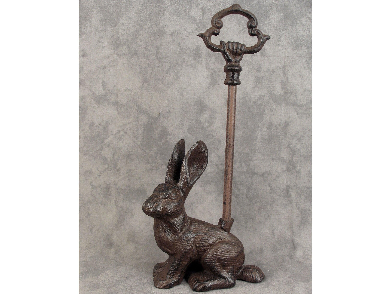 PINEAPPLE Cast Iron DOOR PORTER DOORSTOP HOSPITALITY ~DECORATIVE CARRY HANDLE~ Garden Antiques