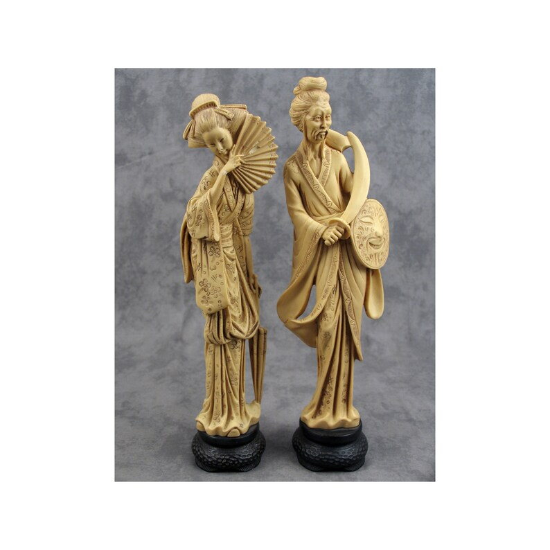 Chinese Handmade Resin Imitation Bone Carving Ancient Figure Statue Figurines Statues Antiques Roomburgh Nl