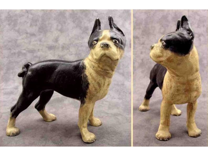 Antique Style Miniature Cast Iron Pug Dog Statue