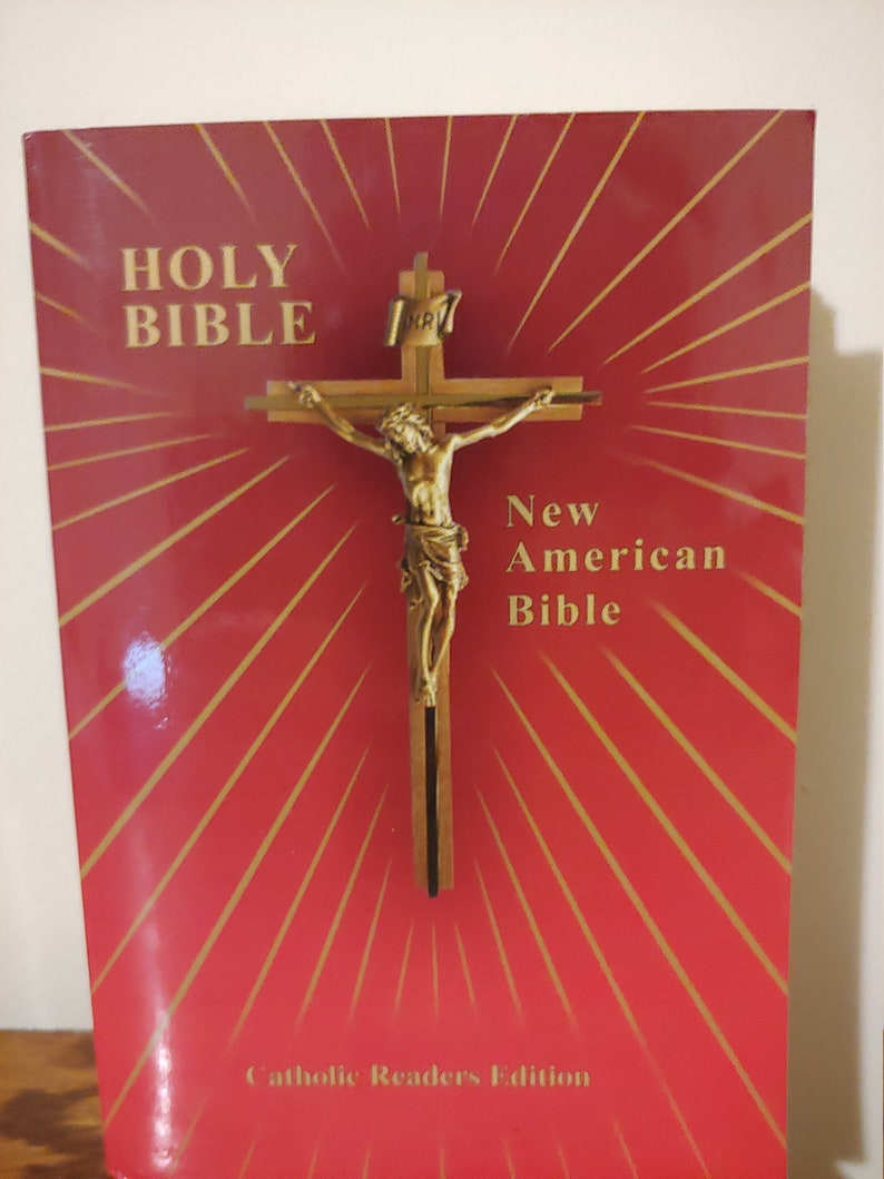1991 The Holy Bible, Catholic Bible-Vintage Gift-Confirmation Gift, First  Communion, New American Bible, NAB, Religious Book