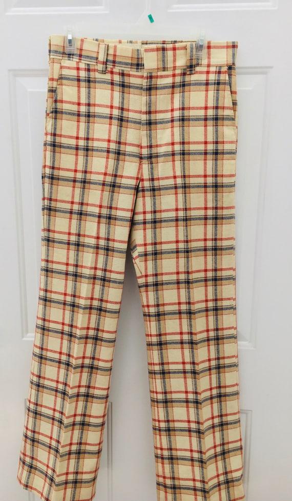 Vintage 1970s Plaid Levi's Panatela Pants