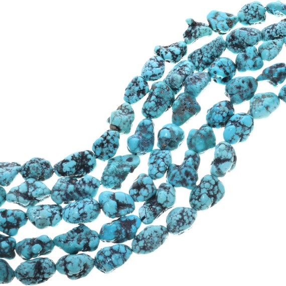 Earth Aqua Turquoise Nugget Beads 5mm Green Gemstone 15 Inch Strand