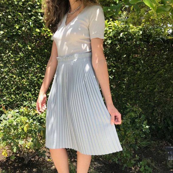 Pleated T-shirt topped dress