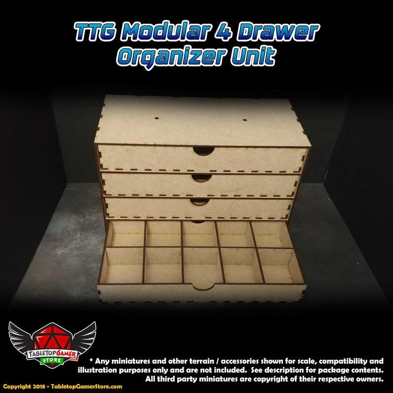 TTG Modular 4 Drawer Organizer Unit