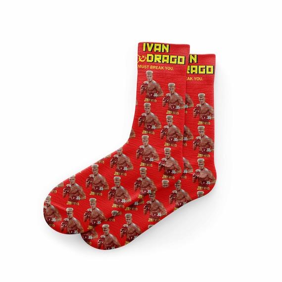 Ivan Drago Socks Rocky Socks