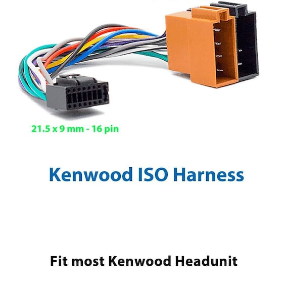 Kenwood Car Radio Stereo 16 Pin Iso Wiring Harness Loom Connector Kdc on car stereo wiring in rv, car radio power supply, car radio trim ring, car fuse box diagram, car radio speaker, car stereo harness, car trailer wiring harness, car wiring harness kits, car stereo wiring colors,