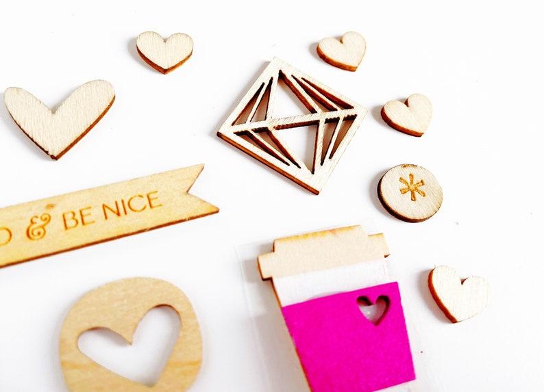 Wood veneers embellishments