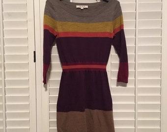 4cf685efa08 Ann Taylor Loft Sweater Dress Women s Size XSmall Multicolor
