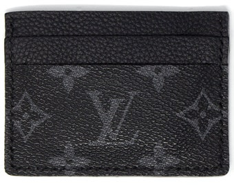 ab0794123b82 Louis Vuitton Card Holder - Monogram Eclipse - Handmade 5 pocket cardholder