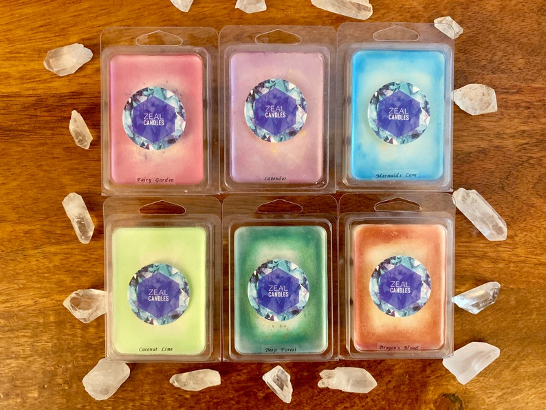 100/% Soy Scented Wax Melts With Mica Powder