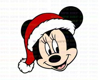 Christmas Hat Drawing Png.Minnie Santa Hat Etsy
