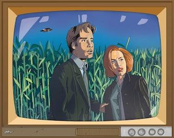 I Want to Believe TV Set — Art Print