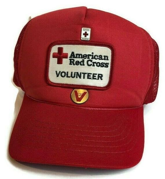 Vintage American Red Cross Hat Snapback Trucker Fl