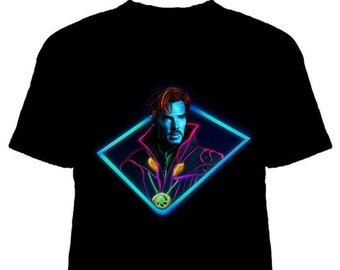 ec7f1cb684 NEON Dr. Strange MCU T-Shirt. Multiple sizes & Colours to choose from!