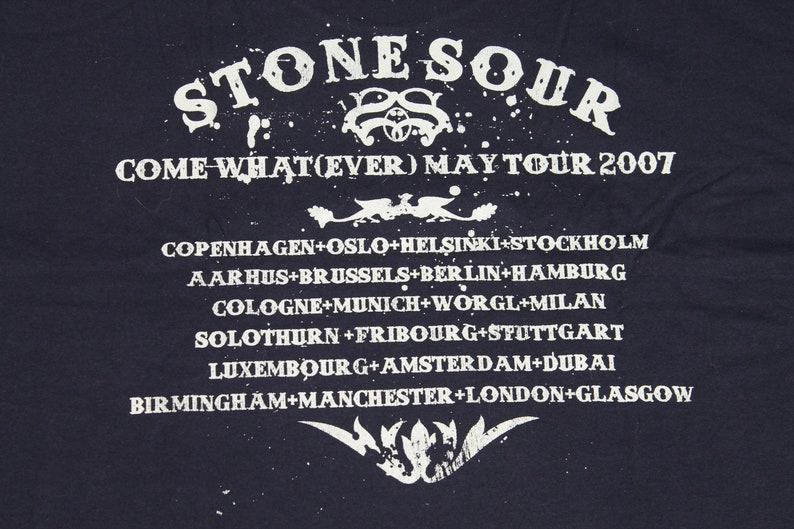 Stone Sour tour shirt Come What ever May Tour American Alternative metal band shirt Men/'s size XL