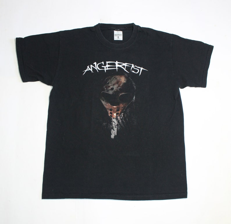 Angerfist shirt Netherlands hardcore techno gabber musician and DJ Men/'s size L