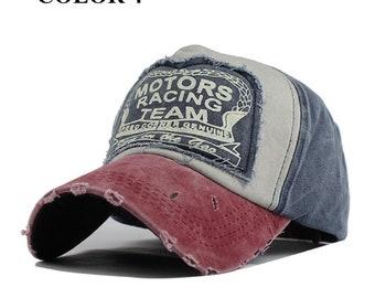 20b6a0774 Baseball cap Spring Cotton Cap Baseball Cap Snapback Hat Summer Cap Hip Hop Fitted  Cap Hats For Men and Women Grinding Multicolor 1D