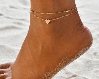 c9756cc5f5c 3pcs/set Anklets for Women, Foot Accessories, Summer Beach anklet, Barefoot  Sandals Bracelet, ankle on the leg Female Anklet 1C
