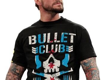 d8926d6235555 CM Punk Japan Pro Wrestling Bullet Club Chicago Illinois Unisex Black  T-Shirt