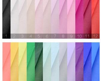 24 Kinds Pure Color 100% Silk Chiffon Fabric Light Silky Silk Fabric The, Silk Fabric In The Yard,,Width 53 inch