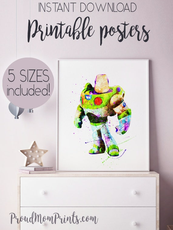 TOY STORY Print A4  Watercolour Watercolor  Wall Art Gift,nursery child,art