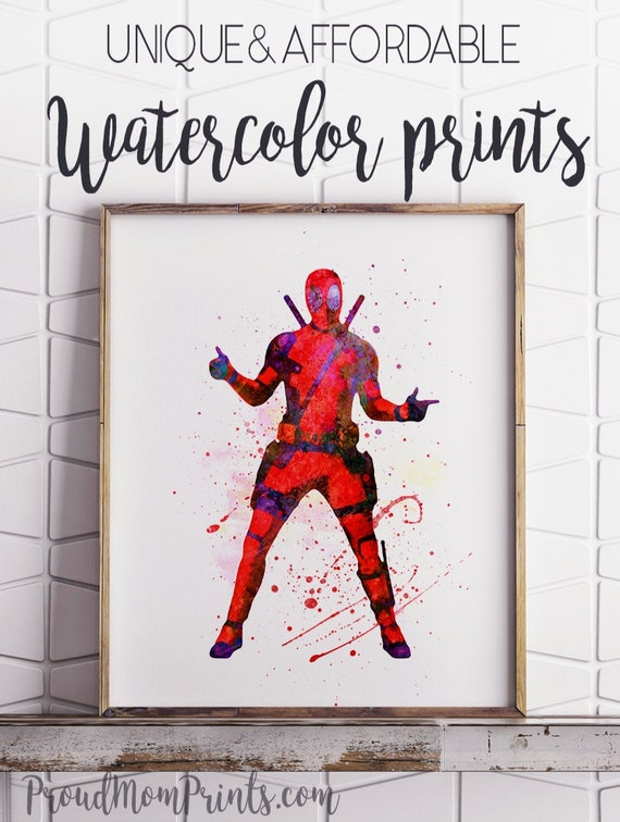 DEADPOOL PULP FICTION MARVEL  POSTER PRINT A5..A4 AND A3 OPTIONS