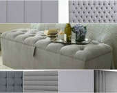 Design Your Own Ottoman Storage Box - Choose Your Size - Choose Your Fabric Colour - Bespoke - Made to Order