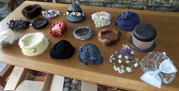 24 Vintage Ladies Hats 1930's 40's 50's