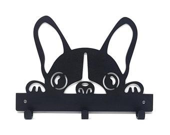 French Bulldog Bull Dog Black Metal Napkin or Letter Holder *NEW*
