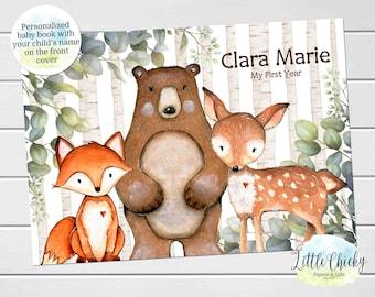 Woodland Animals Baby Keepsake Journal, Woodland Animals Baby Book, Milestone Stickers, First Five Years, Baby Book, Baby Shower Gift