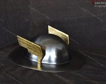 Handmade Steel Helmet of Jay Garrick The Flash for LARP/Costume/Collection