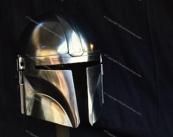 Steel Mandalorian Helmet Ver -3 (LARP/Costumes/Role Plays/Gifts)