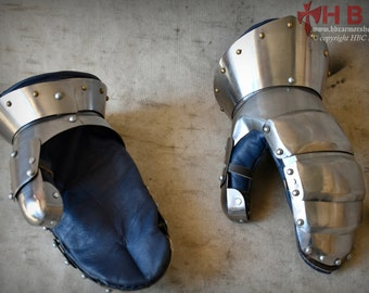 Handmade Medieval Steel Hand Mitten Armour