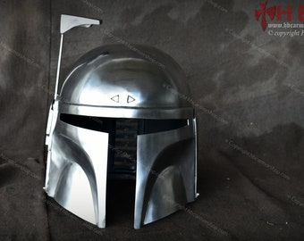 Metal Boba Fett Helmet Ver 2 for Mandalorian cosplay/costumes/Collection/LARP