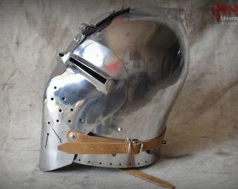 German bascinet Helmet for Buhurt/SCA/Reenactment