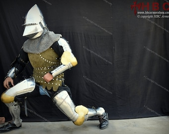 European Full Armor kit For Medieval Reenactment/SCA/Role Plays/Medieval fairs/Historical events/Medieval Fights