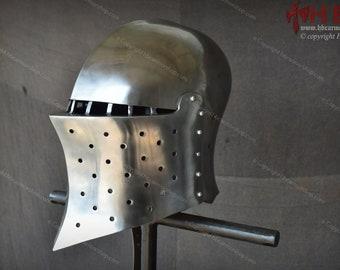 Medieval SAMSON Helmet for Historical Medieval Battles/Buhurt-IMCF Sports/Role Plays & Reenactments