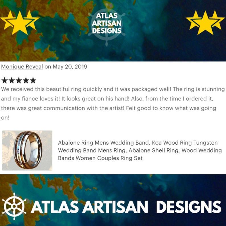 Blue Meteorite Ring with Celtic Inlay Viking Wedding Band Mens Ring Tungsten Viking Ring Black Dragon Ring Mens Wedding Band Celtic Ring