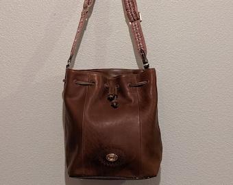 0260d0c66 Tignanello Vintage Bucket Bag- Drawstring- Leather