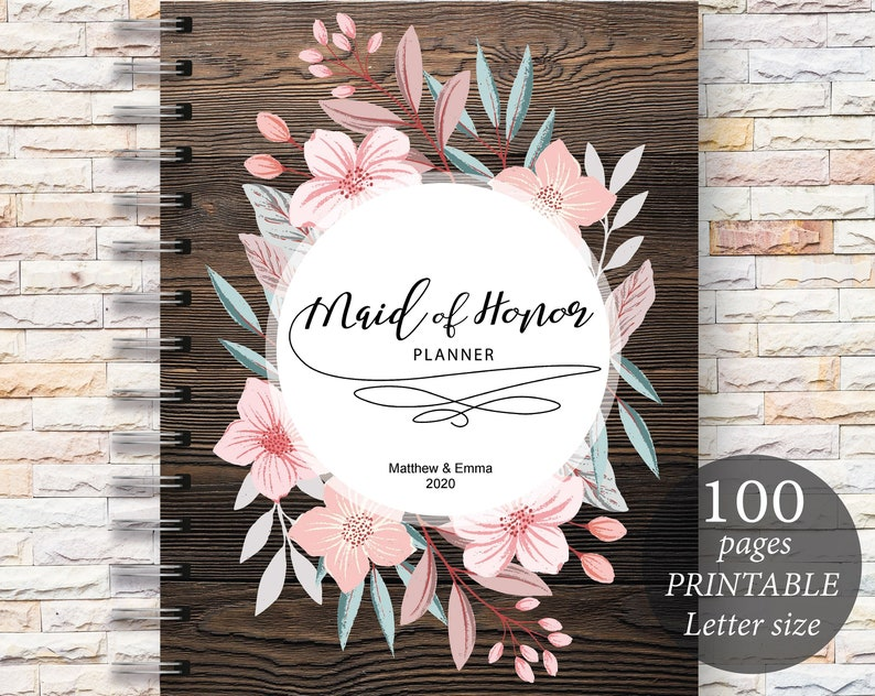 photo about Maid of Honor Printable Planner called Maid of Honor Planner, Wedding ceremony Planner Printable, Bridesmaid Planner, Will Yourself Be My Maid of Honor, PDF, Do-it-yourself Laptop computer , PDF Obtain