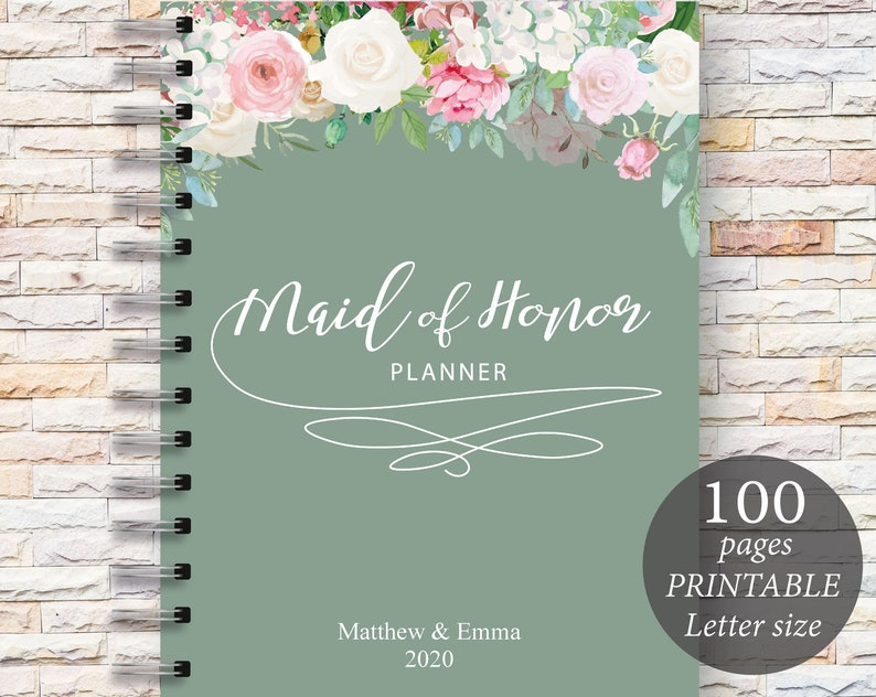 photo relating to Maid of Honor Printable Planner called Best Maid of Honor Planner Printable marriage planner marriage ceremony planner organiser Prompt obtain Weddings Printable planner
